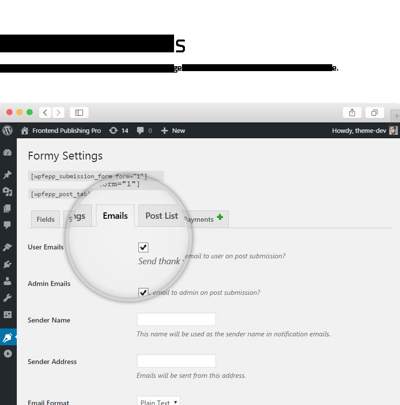 Frontend Publishing Pro - WordPress User Submission Plugin - 13