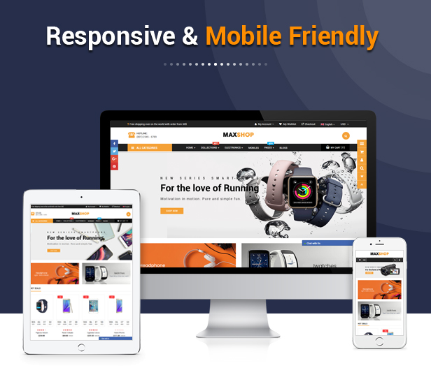 Maxshop - Best Drag & Drop Shopify Theme for Online Store