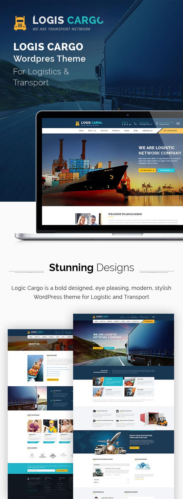 Logiscargo - Logistics and Cargo WordPress Theme by DesignArc ...