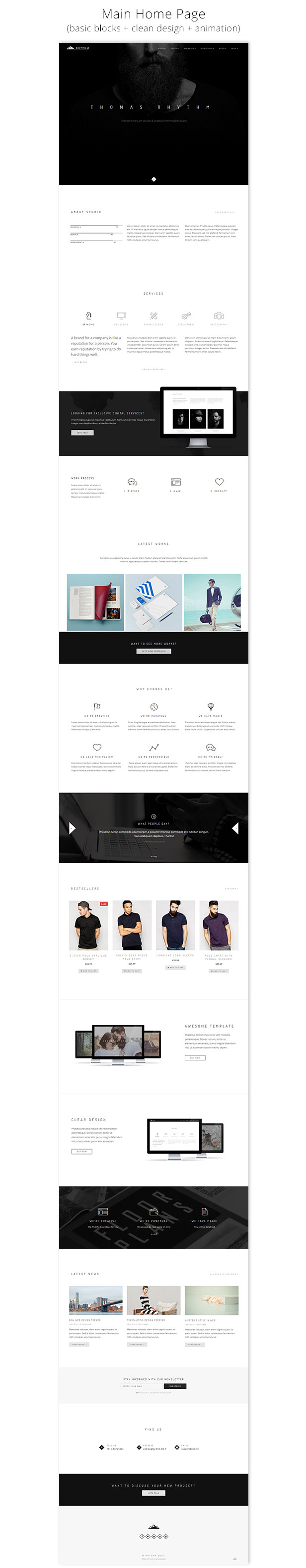 Rhythm - Premium Muse Template - Home Page