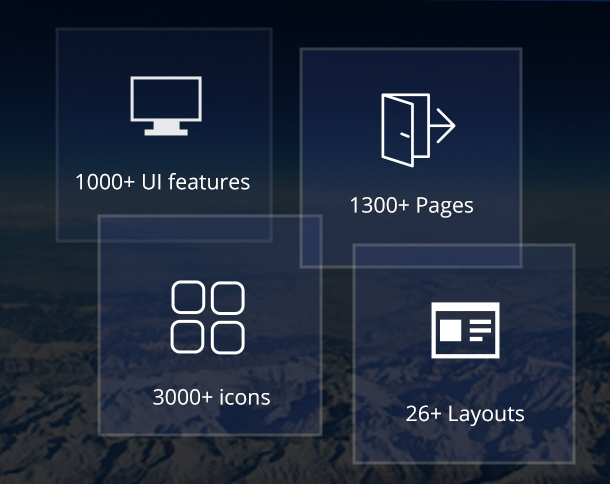 rare has 1000+UI features and comes with 1300+ html pages