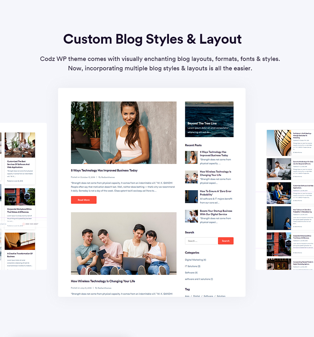 Custom Blog Styles and Layout