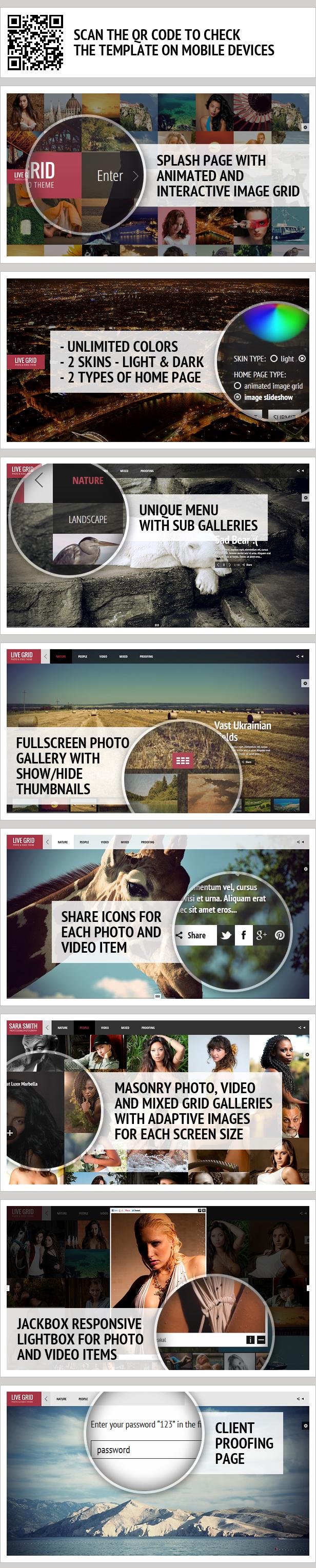 LIVE GRID - Responsive Interactive HTML Portfolio - 6