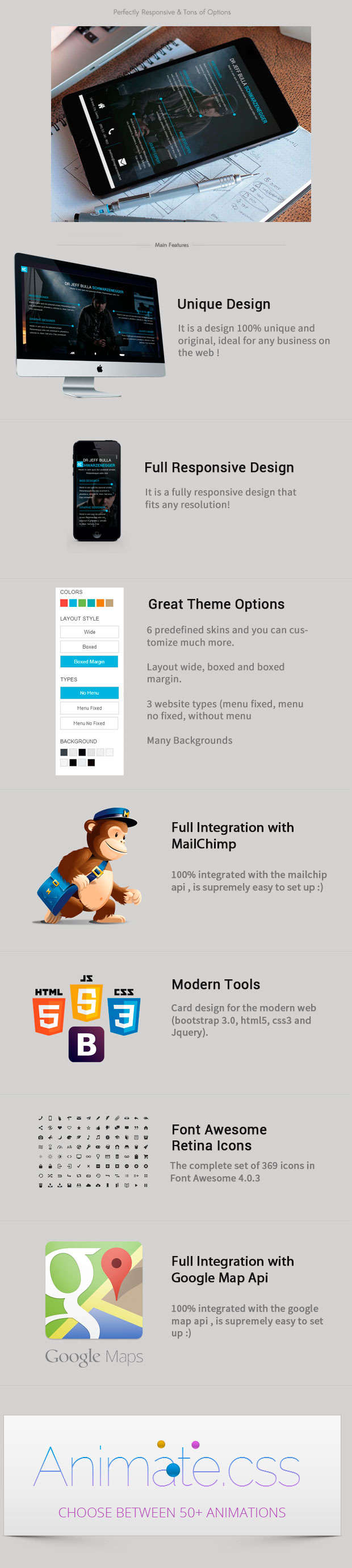 Card- Resume, Blog Html5/Css3 Bootstrap Template by iwthemes ...