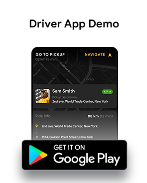 Cab Booking & Driver Android + iOS App Template | HTML + Css