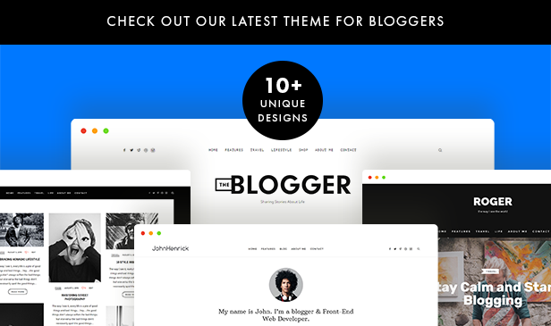 theblogger wordpress blog theme for bloggers
