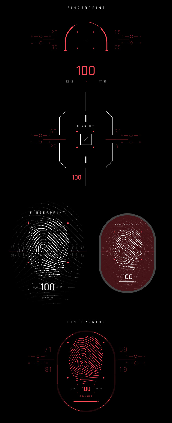 AE脚本-500个HUD高科技赛博朋克UI科幻界面元素动画预设包 Cyberpunk HUD UI 500+ 已修复中文版AE表达式报错插图44