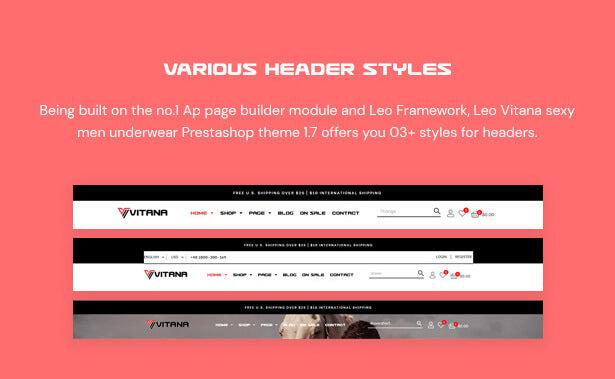 Various Header Styles