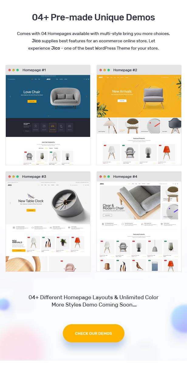 Jico - Furniture & Home Decor for WooCommerce WordPress 23
