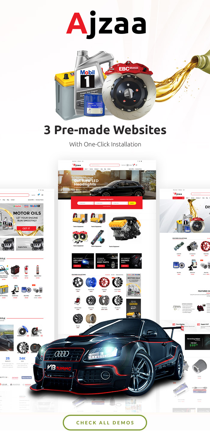 Ajzaa Auto Parts Car Accessories Store Wordpress Theme