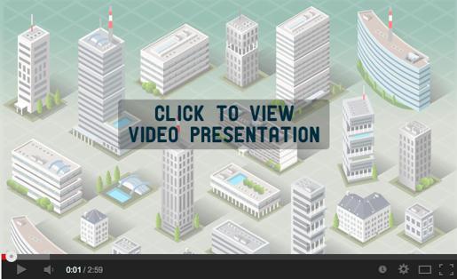 Set of Isometric European Buildings - 1
