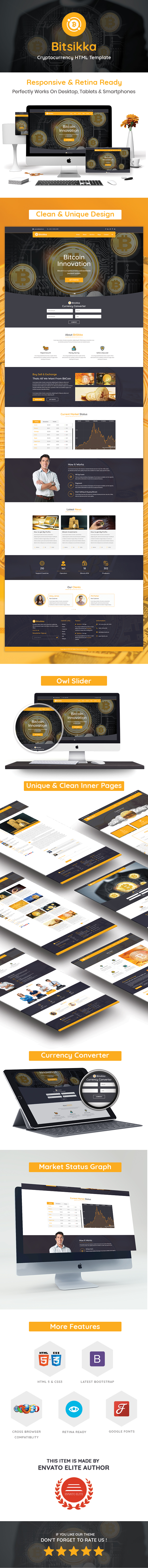 BitSikka - Cryptocurrency HTML Template - 1