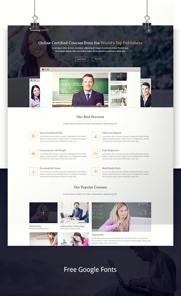 Learning System PSD Template - 11