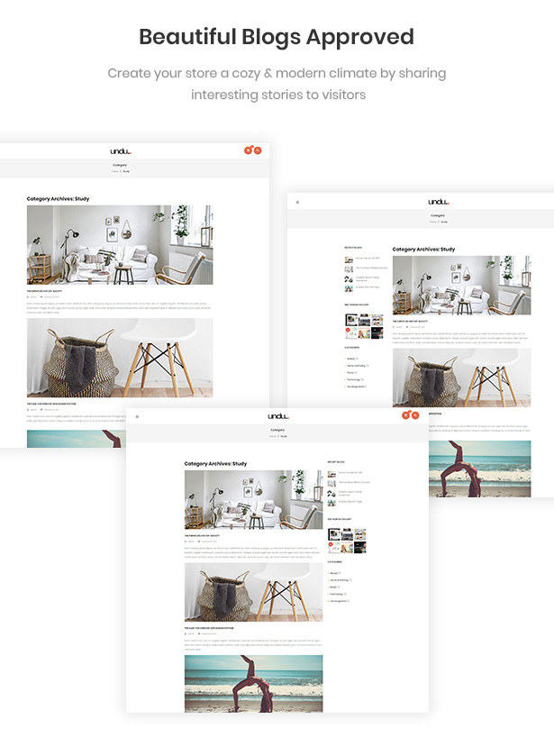Perfect Blogs For Sharing Your Stories Undu - Furniture & Fashion WooCommerce WordPress Theme