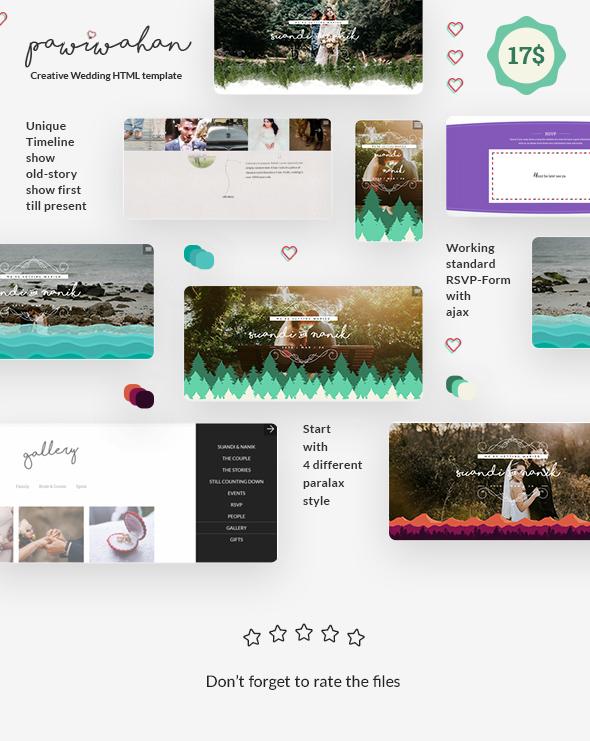 Pawiwahan - Onepage Wedding HTML Template - 1