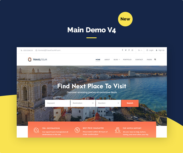 Travel Tour - Tour Booking, Travel Booking WordPress Theme - 3