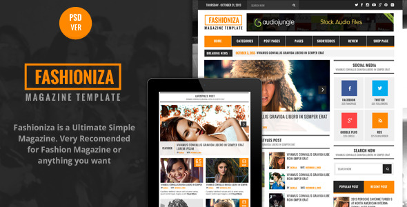 Banaza - Ultimate Flat One Page  PSD Template - 1