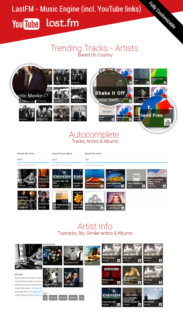 LastFM - Music Engine (incl. YouTube links) - 2