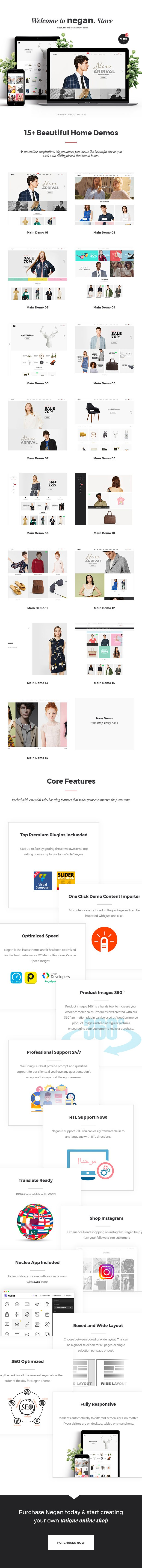 Negan - Clean, Minimal WooCommerce Theme - 1