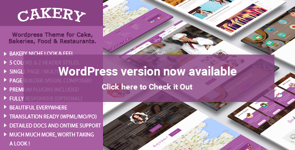 Cakery - Cake and Bakery HTML Template - 1