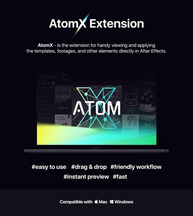 中文汉化AE脚本-企业商务时尚运动图形HUD元素文本标题排版视频剪辑调色过渡等扩展工具包 AtomX v3.0.2 All Packs 2020 for Win/Mac简体中文破解版插图13