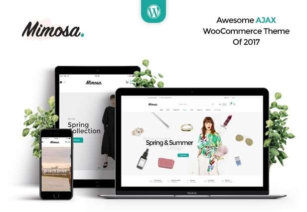 Mimosa - Minimalist AJAX WooCommerce WordPress Theme - 1