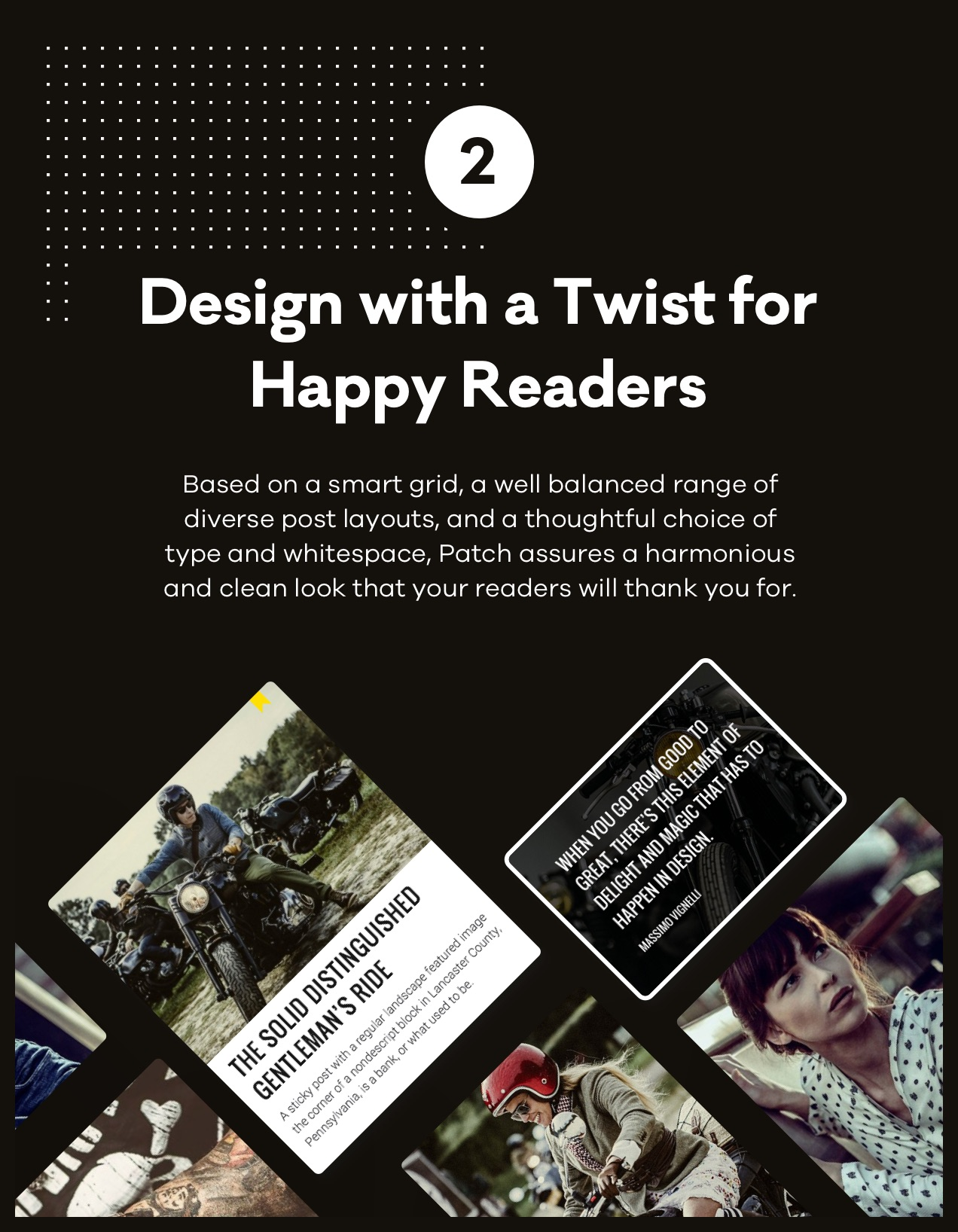 Design with a Twist for Happy Readers