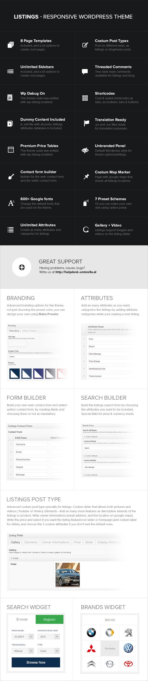 Listings - WordPress Responsive Listings Theme - 4
