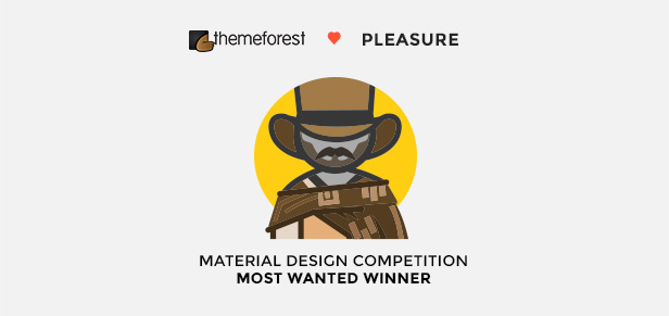 Pleasure won Material Design Contest