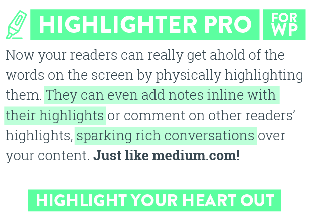 Highlighter Pro: A Medium.com-Inspired Text Highlighting and Inline Commenting Tool for WordPress - 1