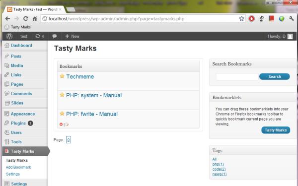 Tasty Marks - WP Bookmarks Plugin - 1