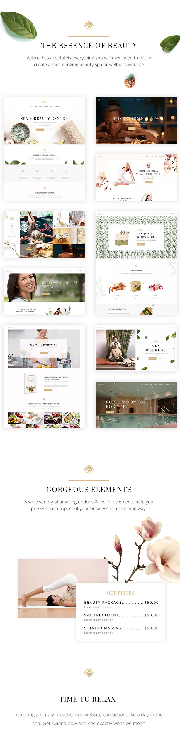 Aviana - An Elegant Lifestyle and Wellness and Spa Theme - 1