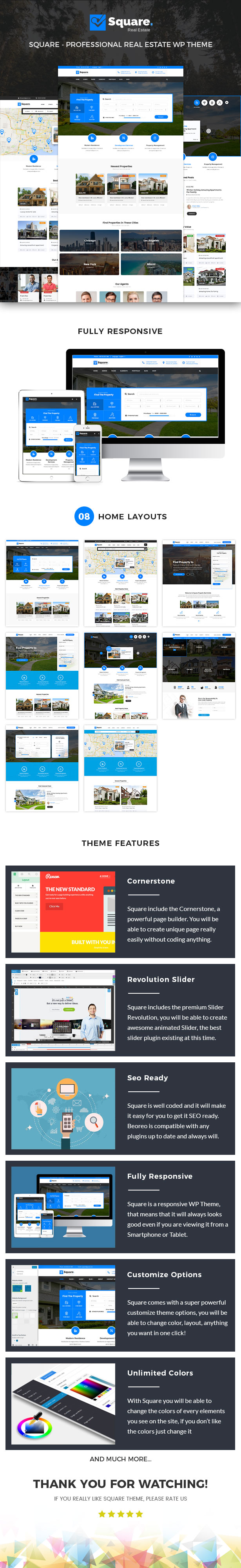Square - Real Estate WordPress Theme - 1