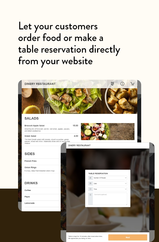 Dinery Food Delivery Table Reservation Restaurant Elementor WordPress Theme