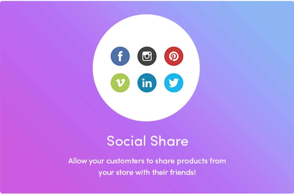 Share products on social networks