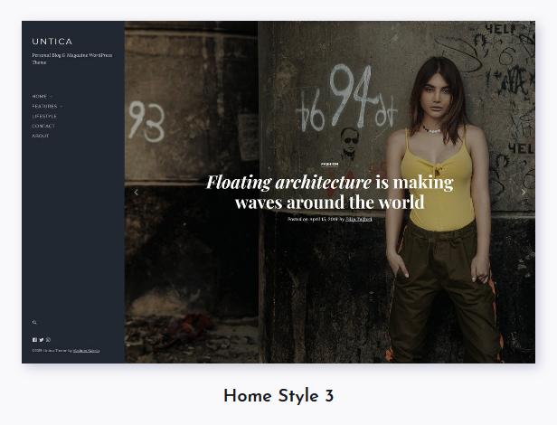 Untica - Personal Blog & Magazine WordPress Theme - 3