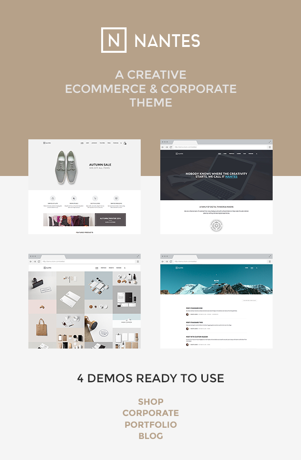 Nantes - Creative Ecommerce & Corporate Theme - 1