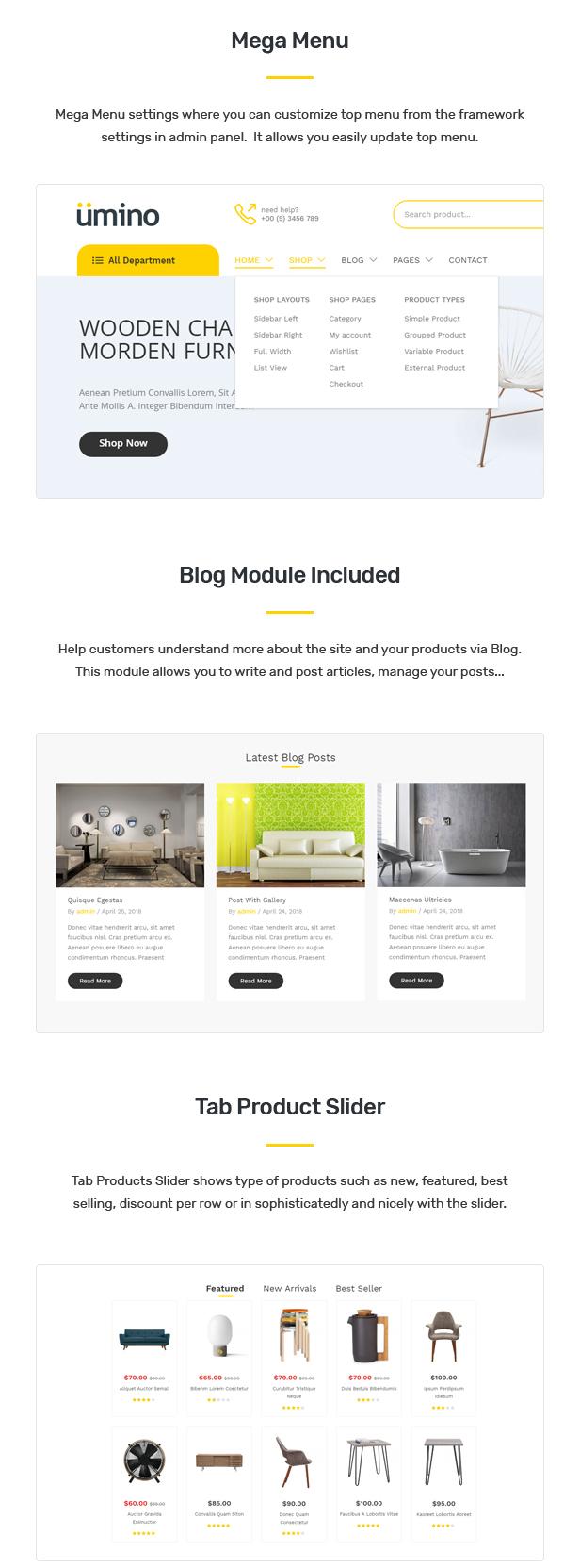 Umino - Furniture & Interior for WooCommerce WordPress 27