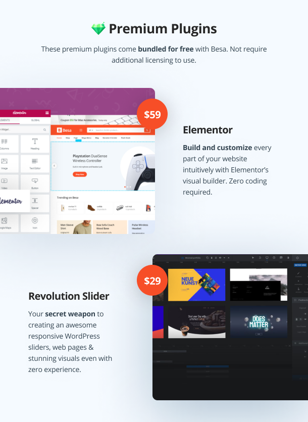 Besa - Elementor Marketplace WooCommerce Theme - 25