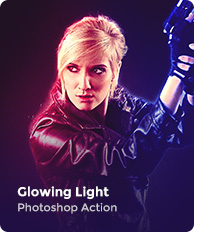 Glowing Light Photoshop Action