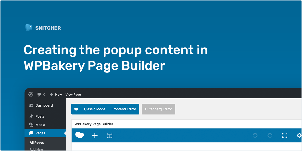 Creating the popup content in WPBakery Page Builder