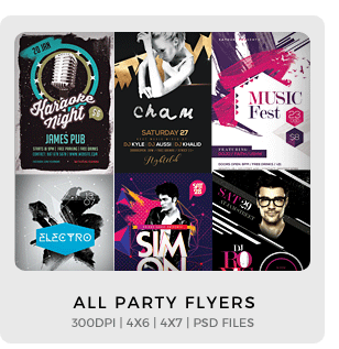 Abstract Party Flyers Bundle Vol1 - 15