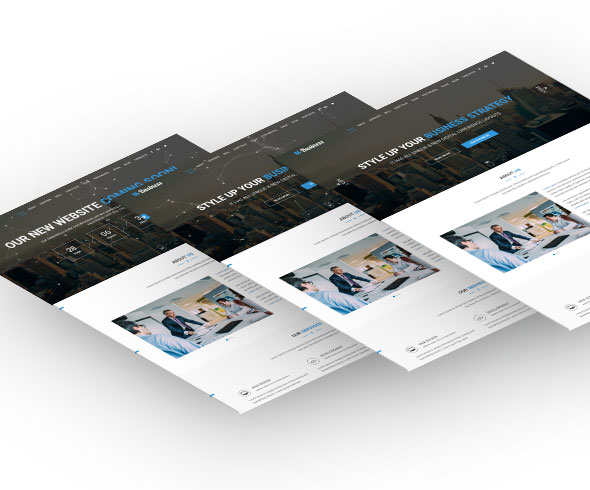 M-Business One Page Corporate and Business Template - 2
