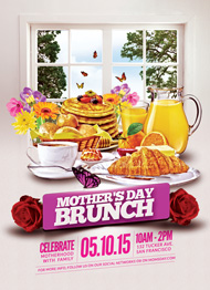Design Cloud: Mother's Day Brunch Flyer Template