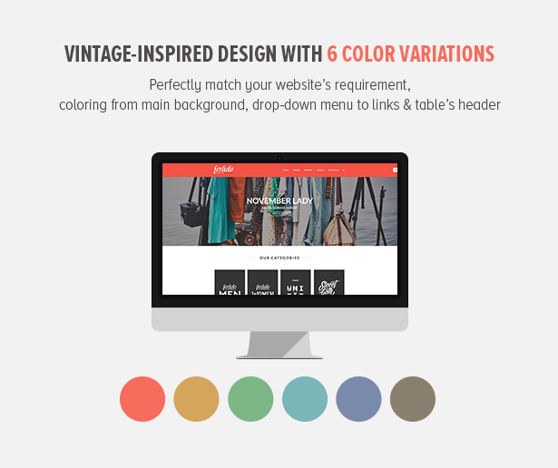 Vintage-inspired Design with 6 Color Variations