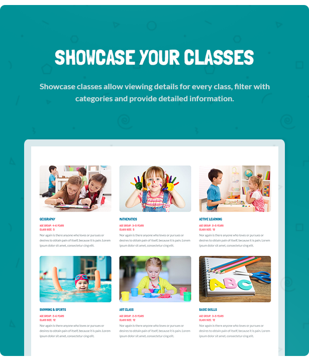 Kids - Day Care & Kindergarten WordPress Theme for Children
