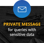 Private message for queries with sensitive data