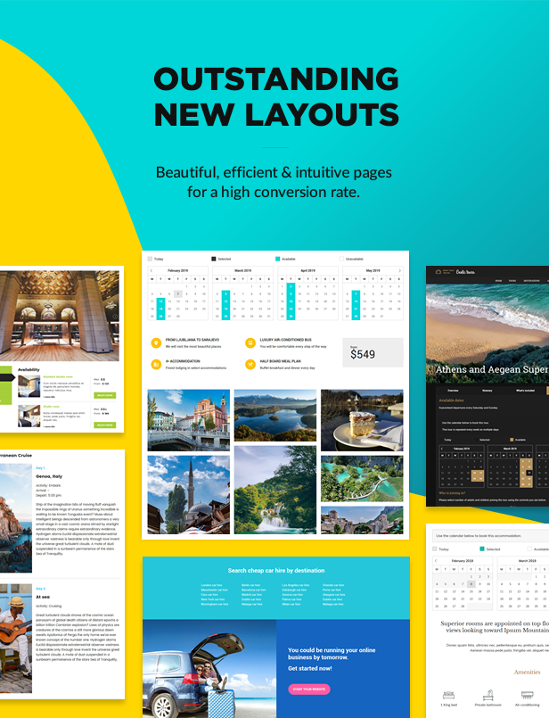 Outstanding new page layouts