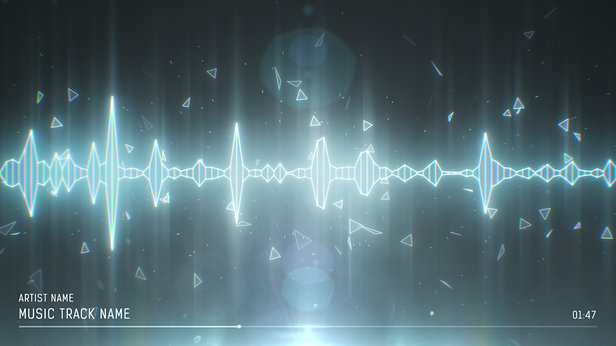 SoundVisible Audio Spectrum Visualizer | Linear Spikes Template | Color Preset: Silver