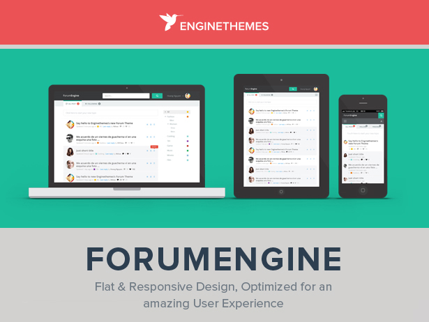 ForumEngine, Flat Responsive WordPress Forum Theme by enginewpthemes